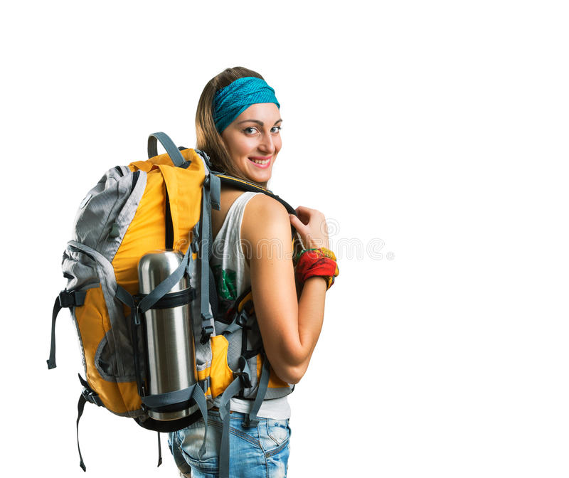Podróżnik kobieta zdjęcia stock