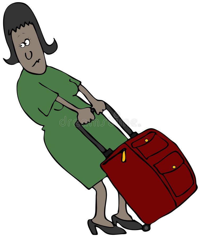 podróżnik kobieta royalty ilustracja