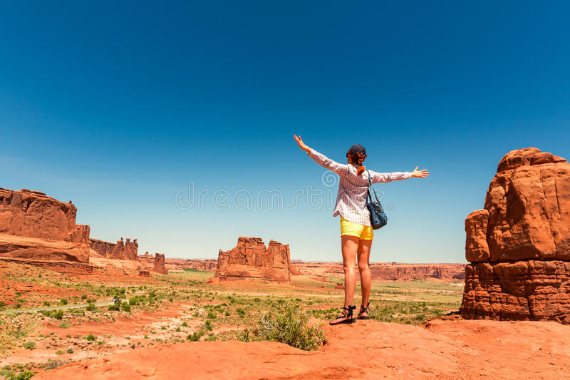 Podróżnik przy pomnikową doliną obraz stock