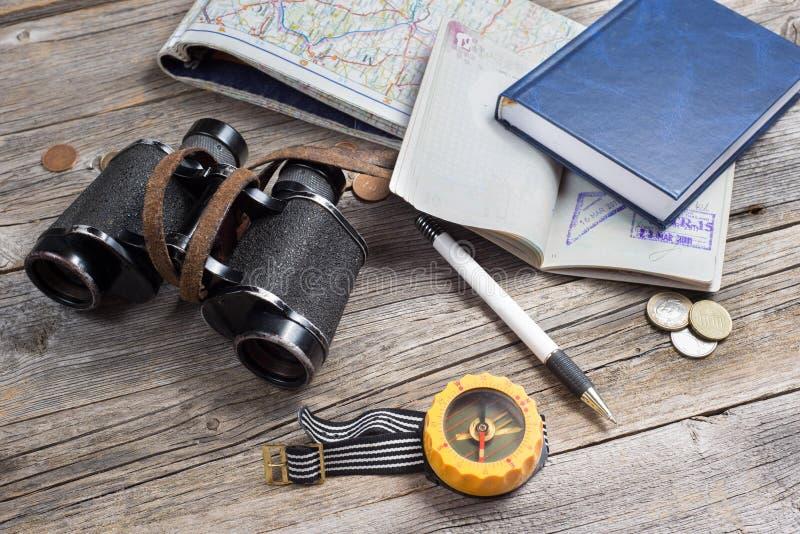 Podróżnika wyposażenie fotografia royalty free
