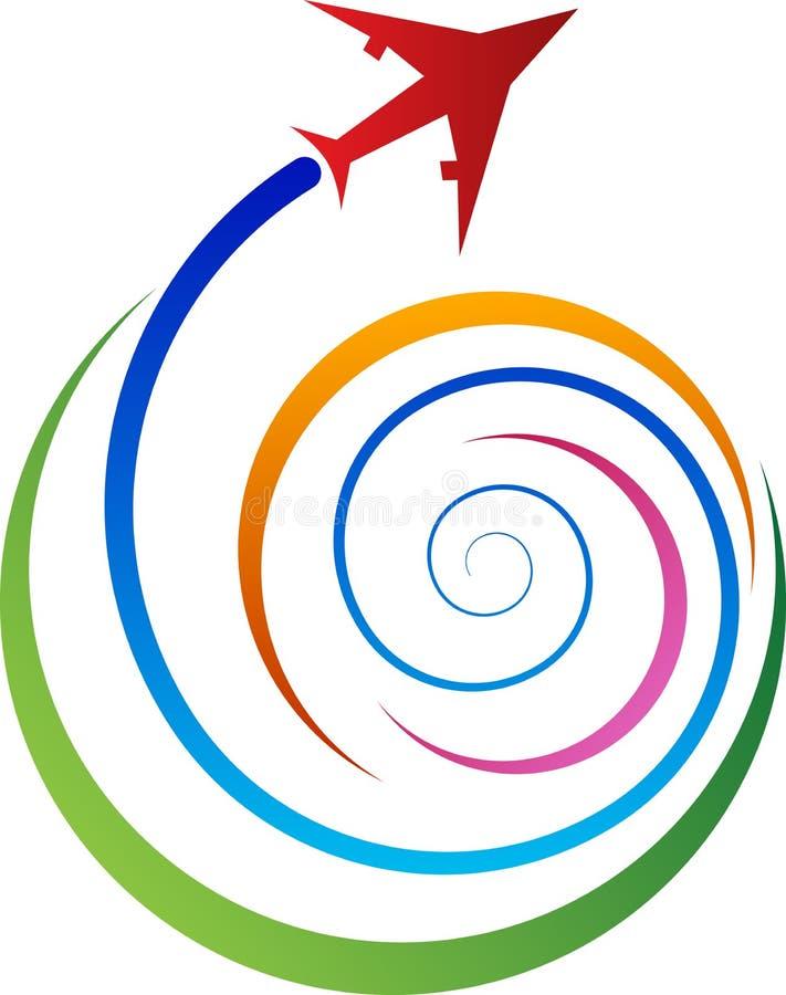 Podróżny logo ilustracji