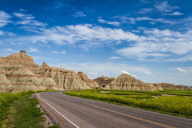 Podróżować badlands, Południowy Dakota obraz stock