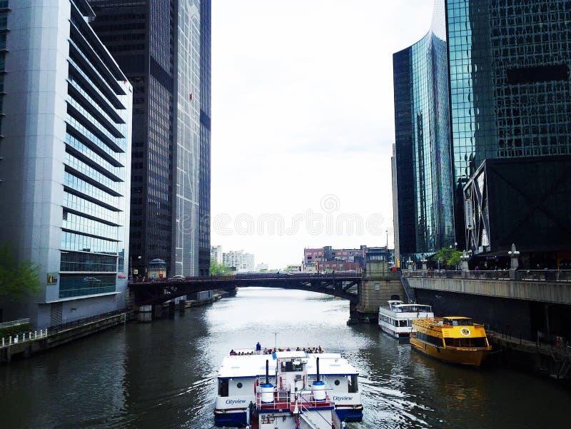 Podróżować w Chicago obrazy royalty free