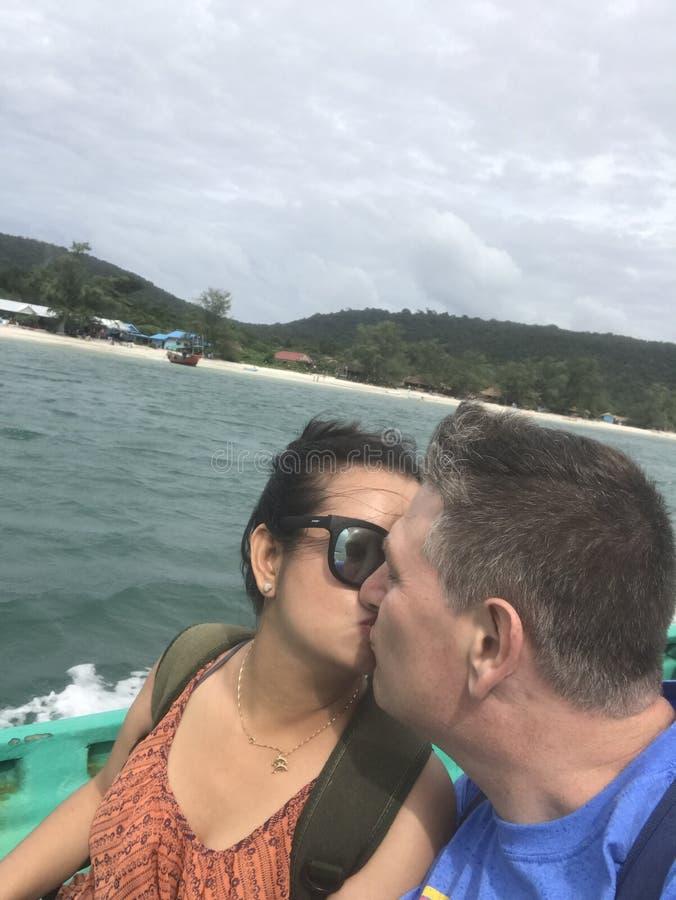 Podróżować wyspa w Kambodża obraz royalty free