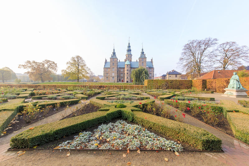 Podróżujący w sławnej Rosenborg szczelinie, Kopenhaga zdjęcia royalty free