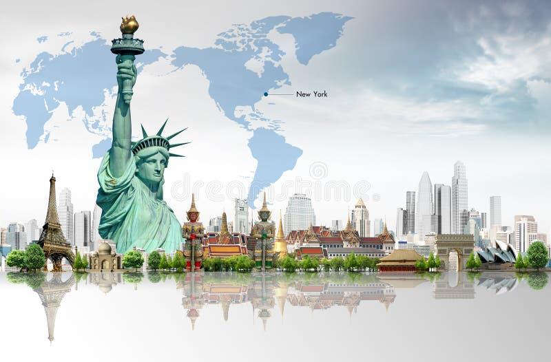 Podróżuje świat obraz royalty free