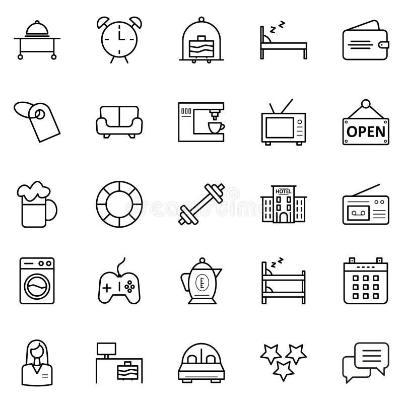 Podróżuje Odosobnione Wektorowe ikony które mogą łatwo redagują lub modyfikować i Objeżdża Pakuje royalty ilustracja