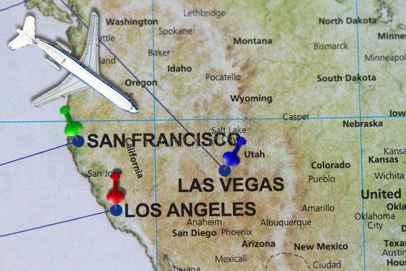 Podróżuje podróż Kalifornia San Fransisco i Los Angeles conce fotografia royalty free