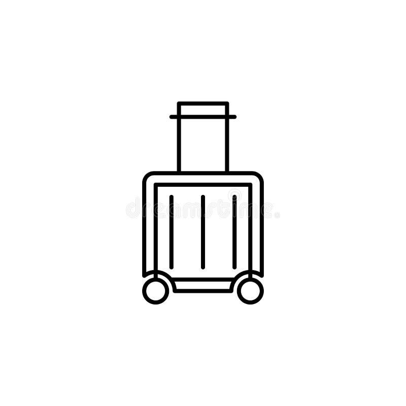 Podr??y analityka konturu ikona Elementy podr??y ilustracji ikona Znaki i symbole mog? u?ywa? dla sieci, logo, mobilny app, UI, ilustracja wektor