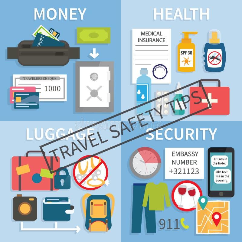 Podróży bezpieczeństwa porady ilustracji