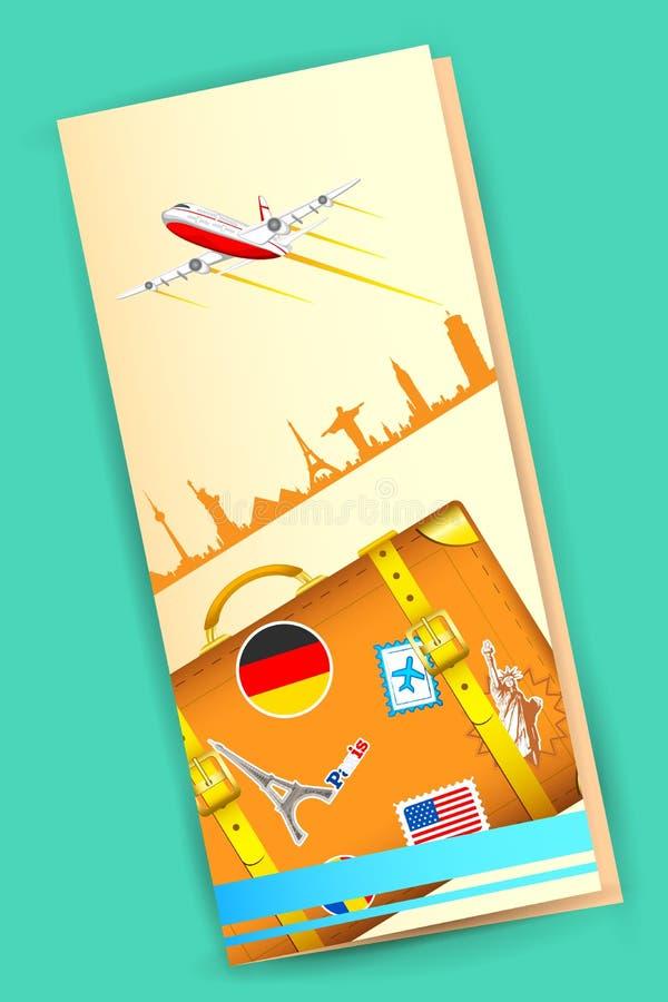 Podróży broszurka ilustracji