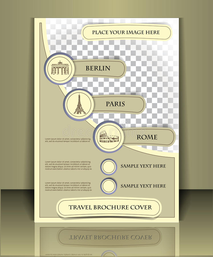Podróży broszurka royalty ilustracja