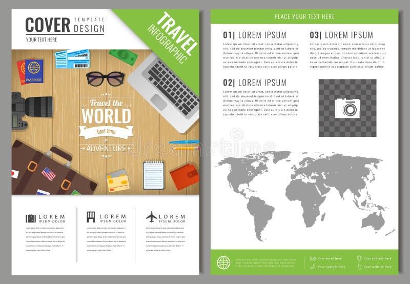 Podróży broszurki projekt Szablon dla podróży i turystyki pojęcia wektor ilustracji