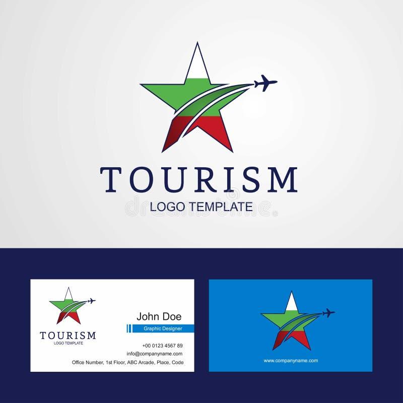 Podróży Bułgaria wizytówki i logo chorągwiany Kreatywnie Gwiazdowy projekt royalty ilustracja