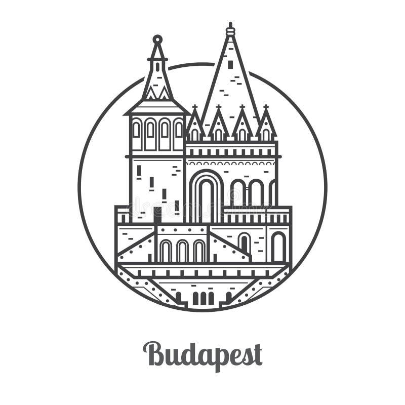 Podróży Budapest ikona ilustracji