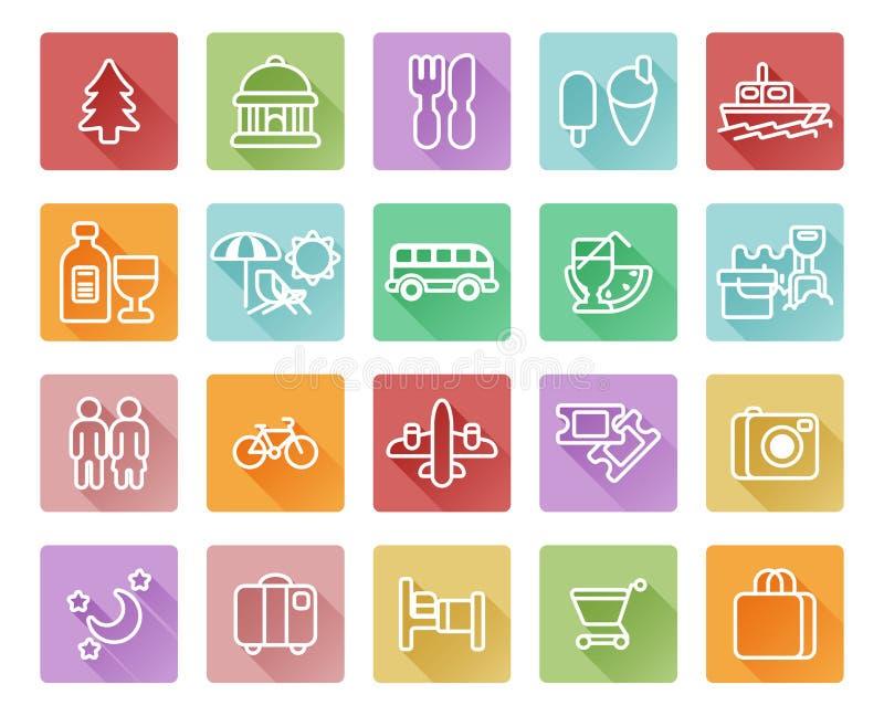 Podróży i turystyki ikony royalty ilustracja