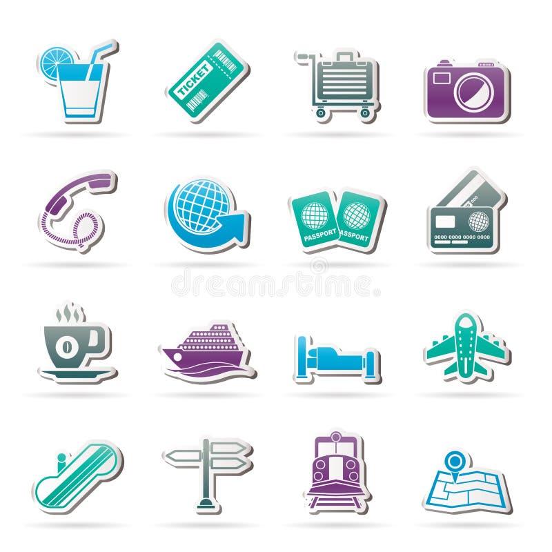 Podróży i wakacje ikony ilustracji