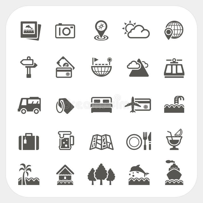 Podróży i wakacje ikony ustawiać ilustracji