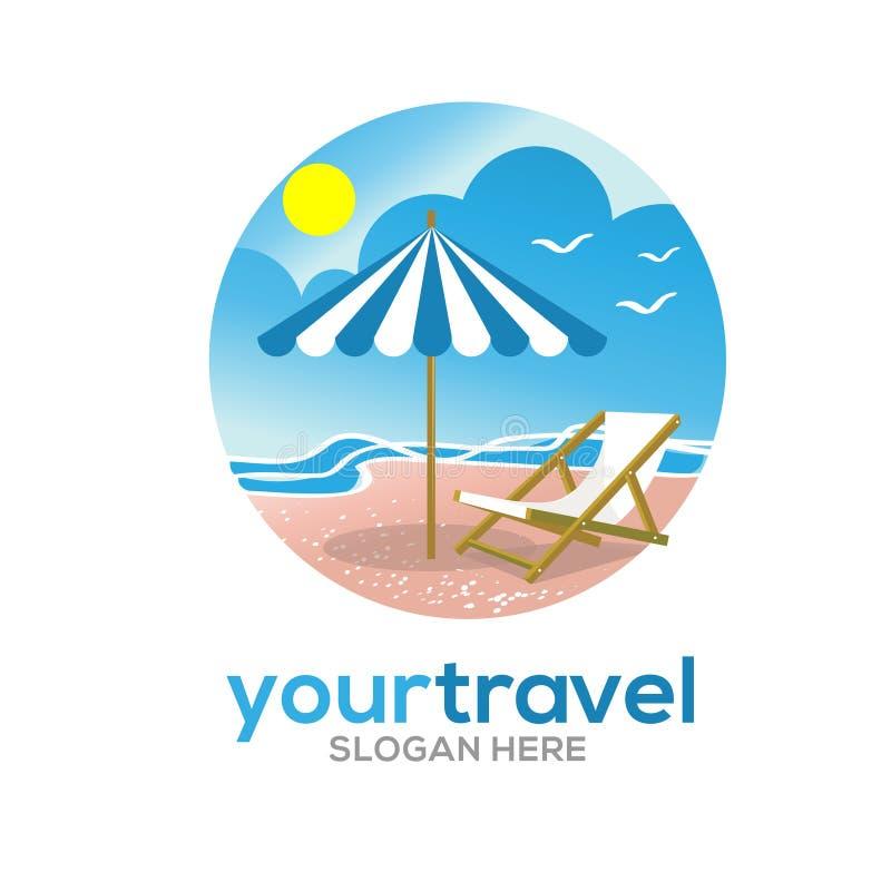 Podróży i wakacji logo ilustracja wektor