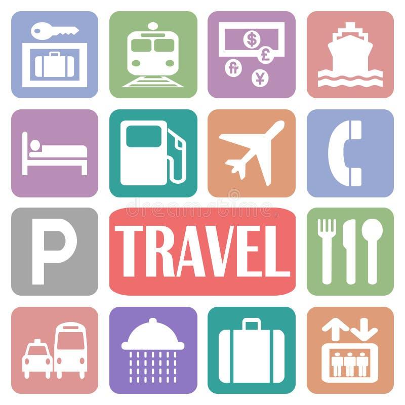 Podróży ikony ilustracja wektor