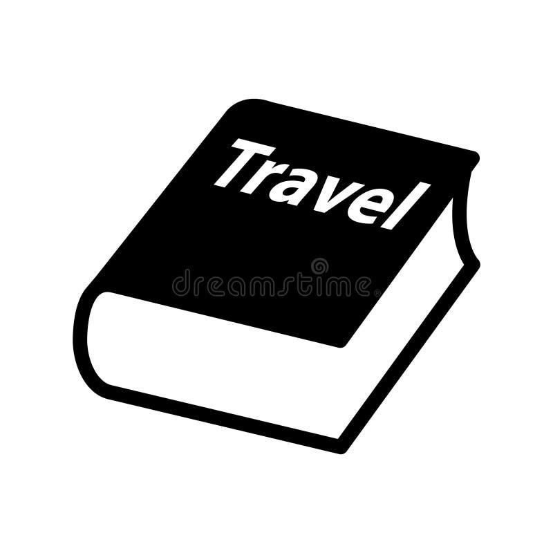 Podróży książkowa ikona, Wektorowa ilustracja ilustracja wektor