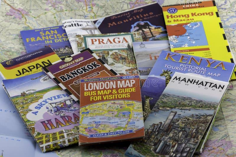 Podróży mapy fotografia royalty free
