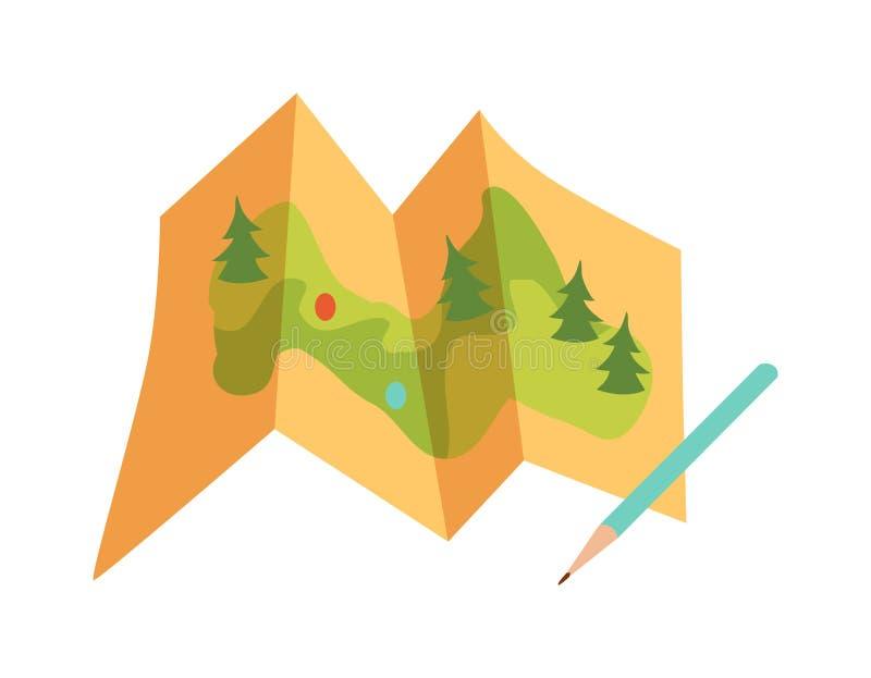 Podróży mapy wektor ilustracja wektor