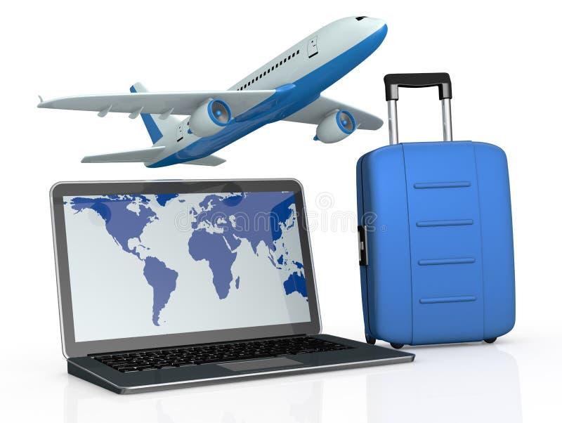 Podróży online rezerwacja ilustracji