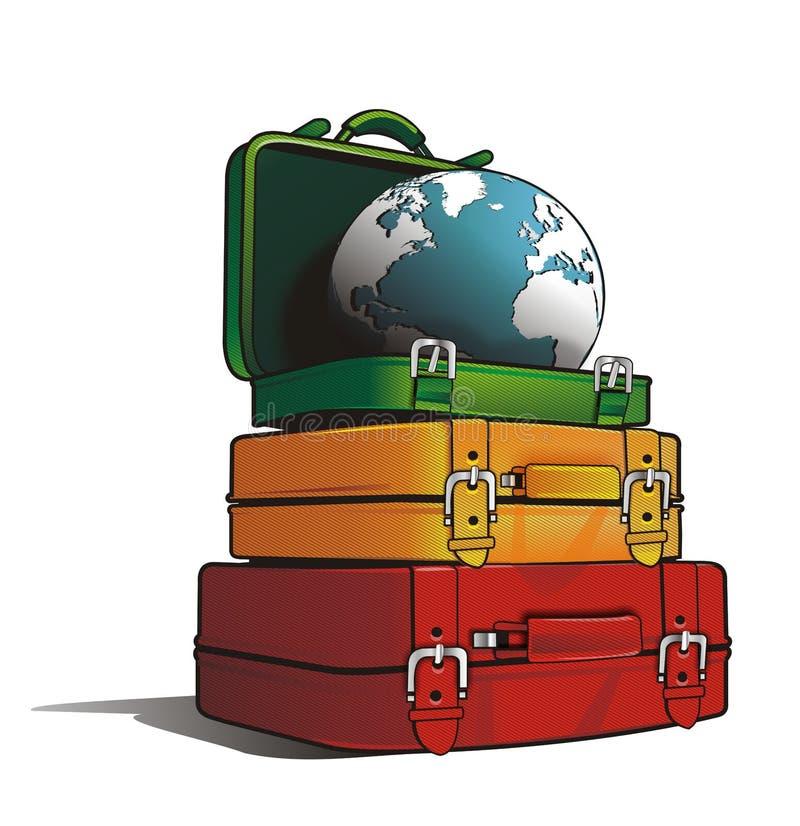 Podróży torby ilustracja wektor