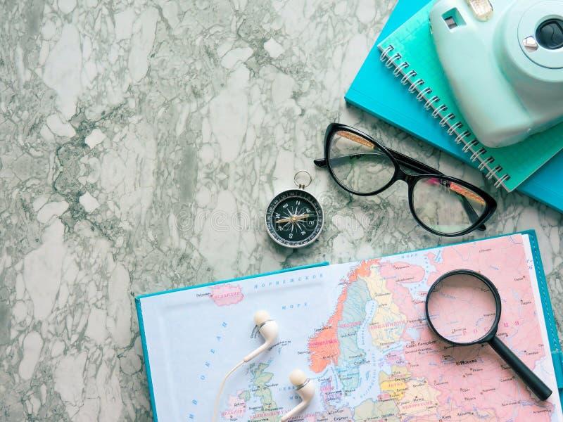 Podróży, turystyki i wakacje pojęcia tło, mapa świata obraz royalty free