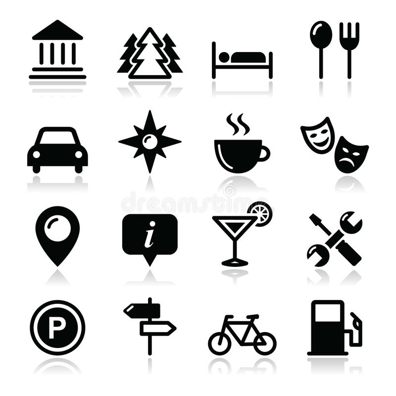 Podróży turystyki ikony ustawiać -   ilustracji