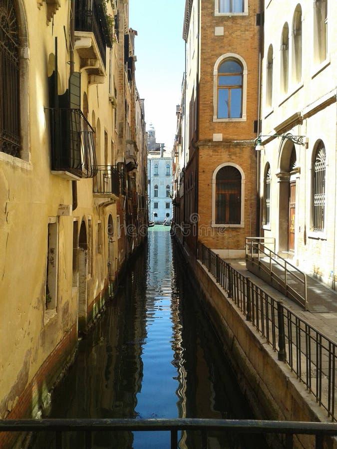 Podróży Włochy Wenecja kanał grande budynki obraz stock