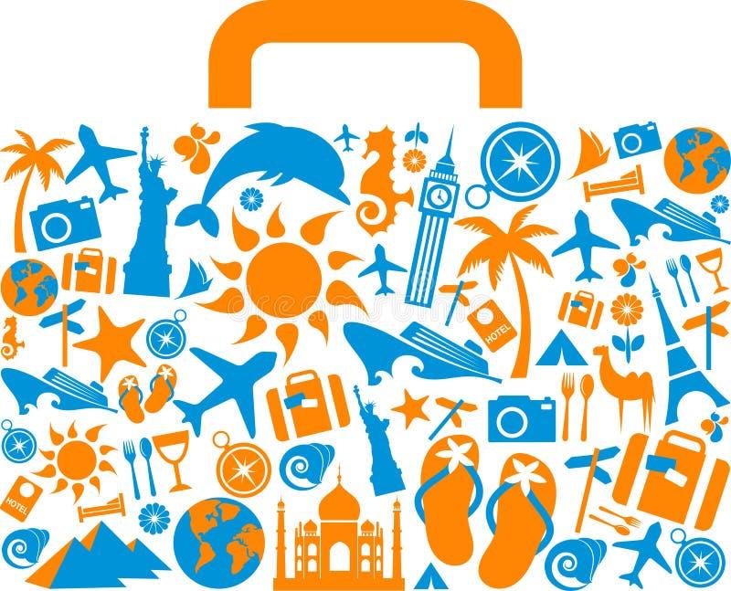 Podróży walizka royalty ilustracja