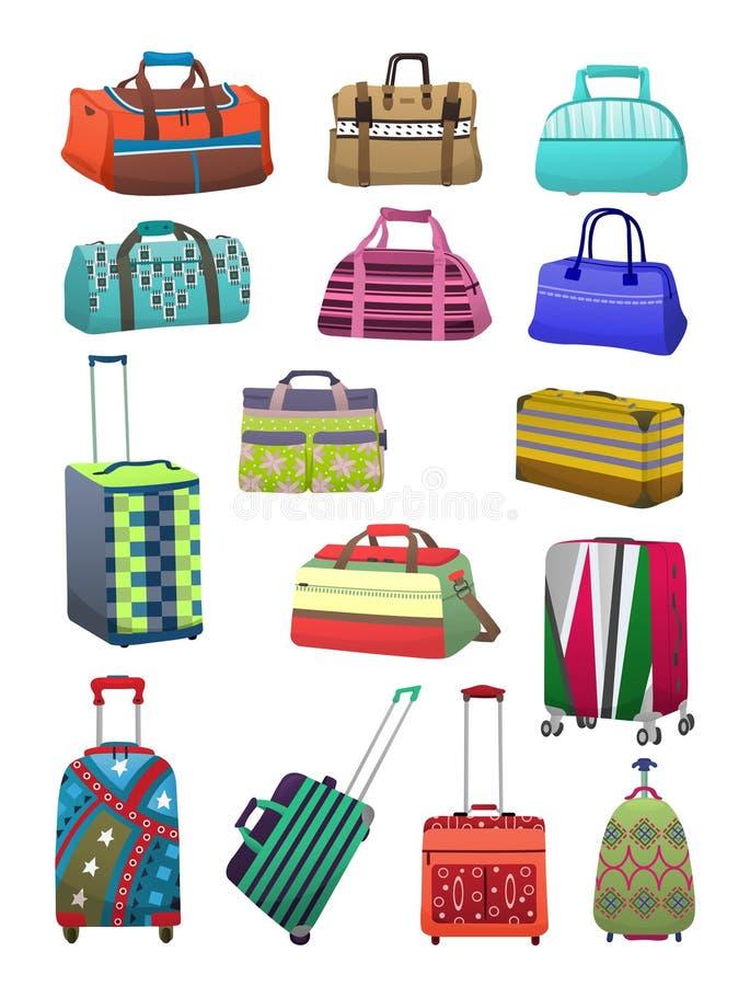 Podróży walizki i torby ilustracja wektor