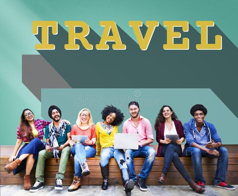 Podróży wycieczki podróży wakacje wakacje pojęcie zdjęcie stock