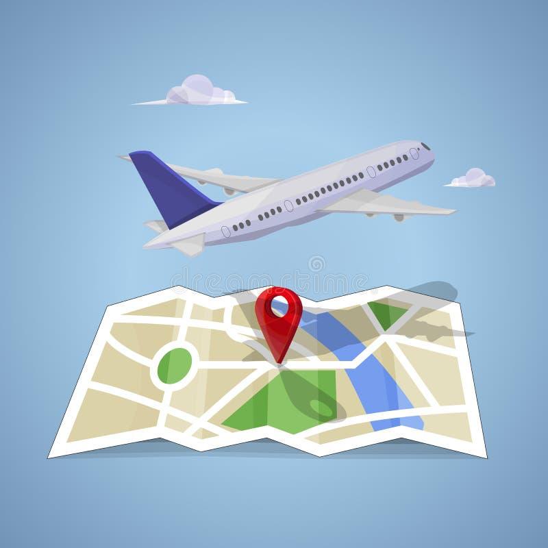 Download Podróż na mapie ilustracja wektor. Ilustracja złożonej z świat - 57653463