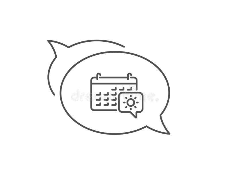 Podr?? kalendarza linii ikona Wycieczki planowania znak wektor ilustracja wektor