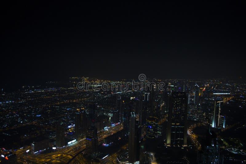 Podr?? w Dubaj przy noc? fotografia stock