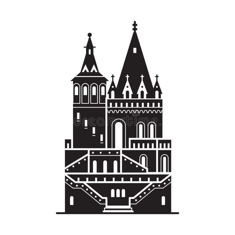 Podr??y Budapest ikona ilustracja wektor