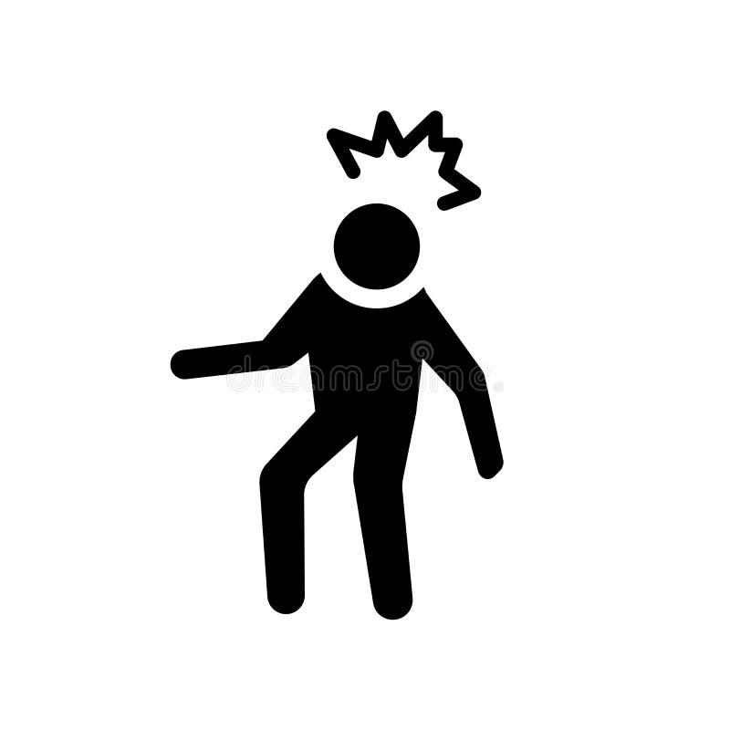 podrażniona ludzka ikona Modny podrażniony ludzki logo pojęcie na whi royalty ilustracja
