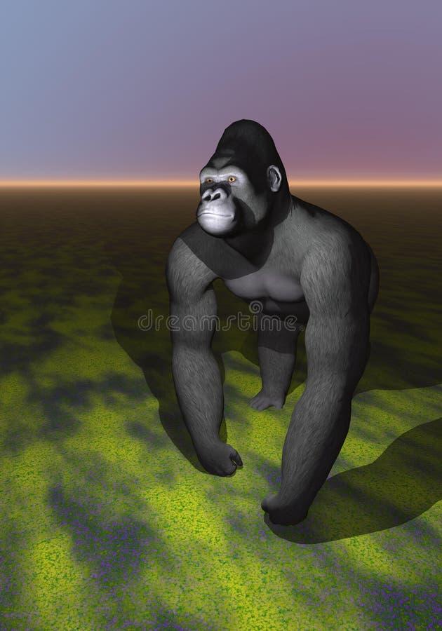 Podrażniony goryl ilustracja wektor