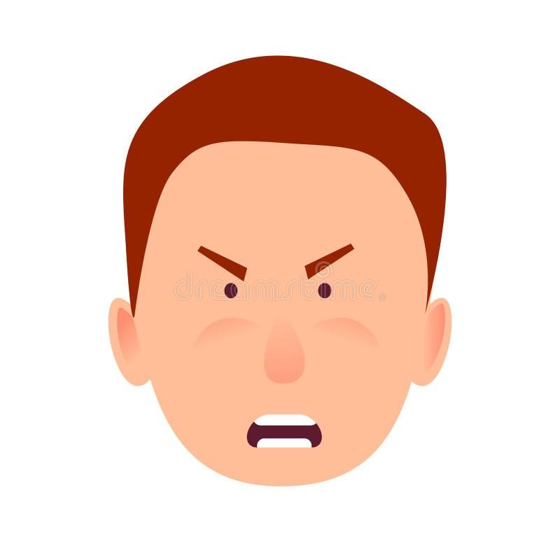 Podrażniony wyraz twarzy Mała Caddy ikona ilustracji