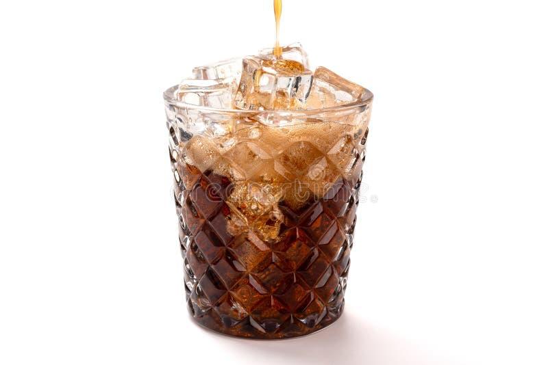 Podsadzkowa szklana filiżanka z kolą zdjęcia royalty free