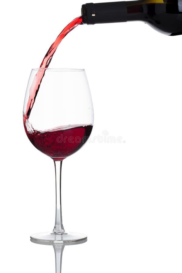 Download Podsadzkowy Szklany Czerwone Wino Obraz Stock - Obraz złożonej z biały, butelka: 13340705