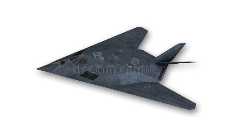 Podstępu samolot w locie, hebluje odosobnionego na białym tle royalty ilustracja