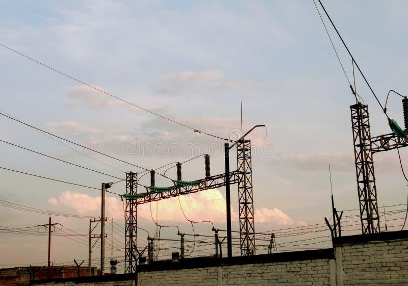 podstacja elektryczna obraz stock
