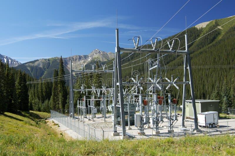 podstacja energetyczna obraz stock