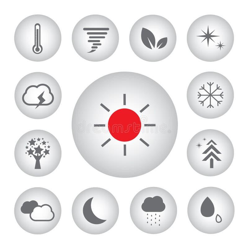 Podstawowa ikona ustawiająca dla pogody royalty ilustracja