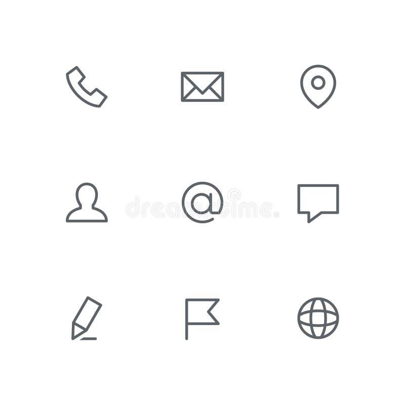 Podstawowa kontur ikona ustawia 01 royalty ilustracja