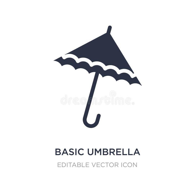 podstawowa parasolowa ikona na białym tle Prosta element ilustracja od Pogodowego pojęcia royalty ilustracja